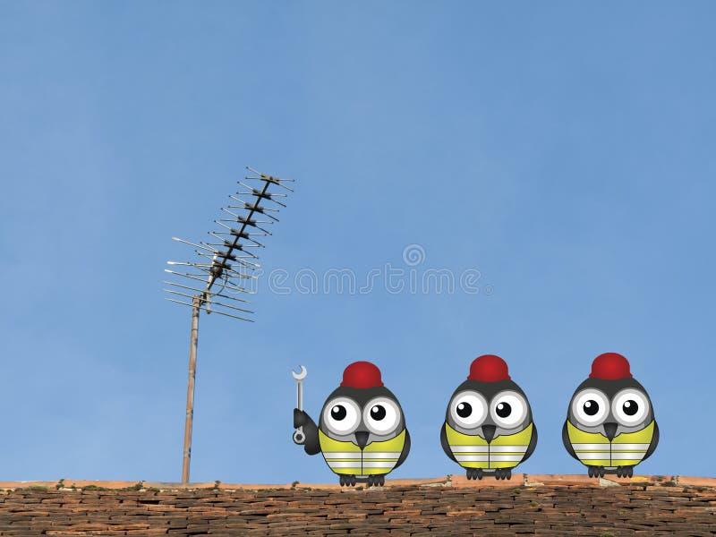 TV anteny naprawy zdjęcia stock
