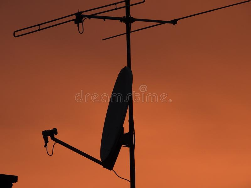 TV anteny zdjęcia stock