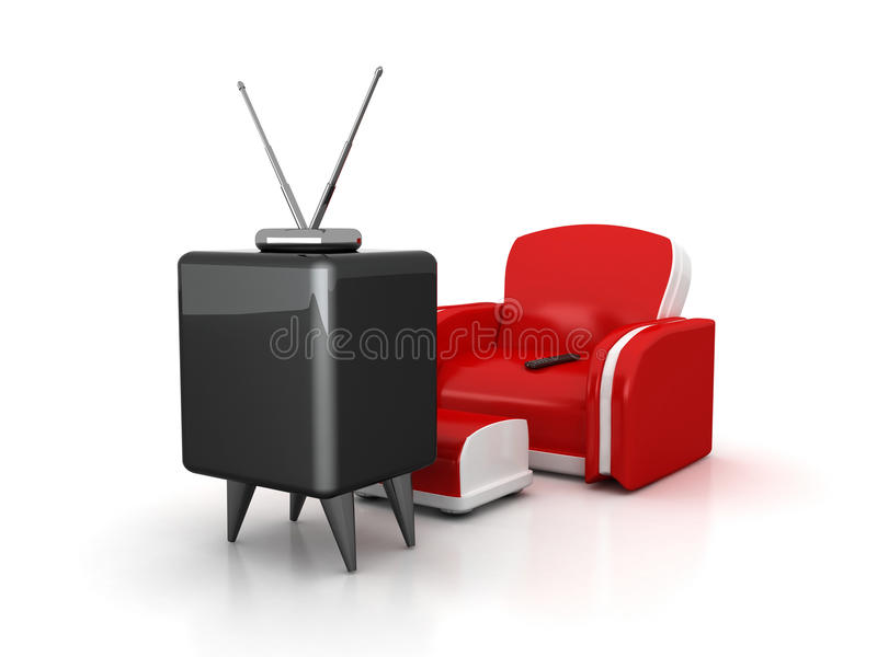Download Tv And Armchair Stock Illustration. Illustration Of Style    15579091