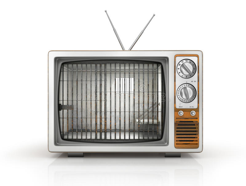 TV as prison. royalty free illustration
