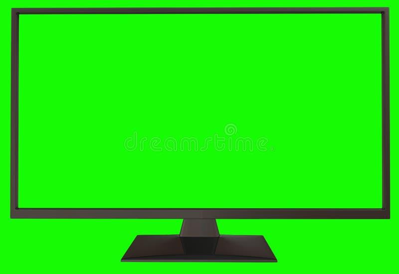 TV avec l'écran vert illustration libre de droits