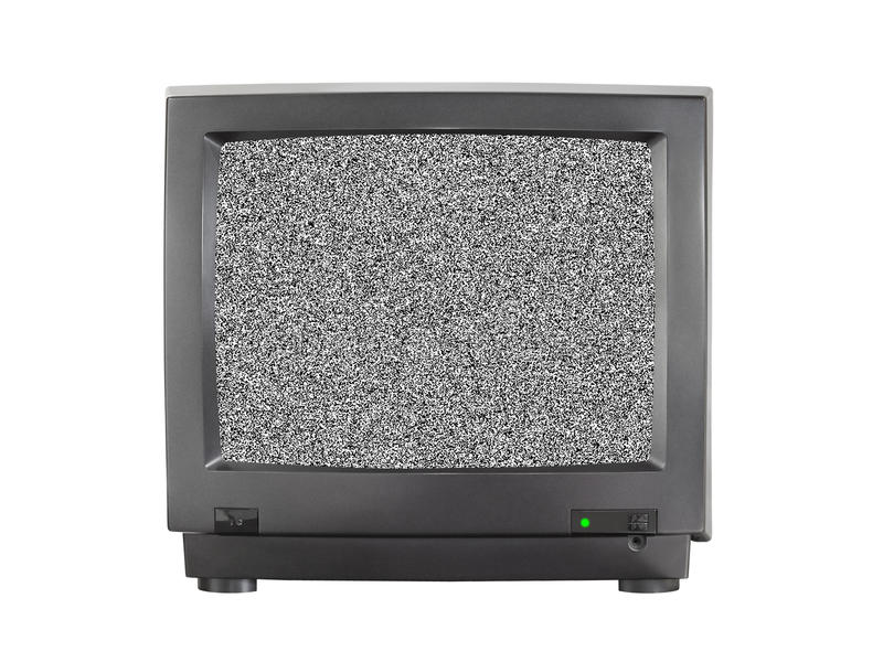 Tv with blank screen stock photo image