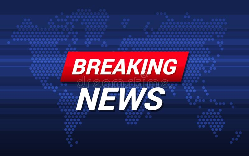 TV Breaking News Screen Background. Vector royalty free illustration