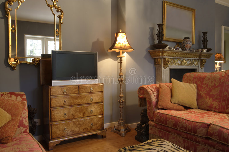 Tv cabinet stock photo image of living furnishing sofa for Sideboard wohnzimmer design