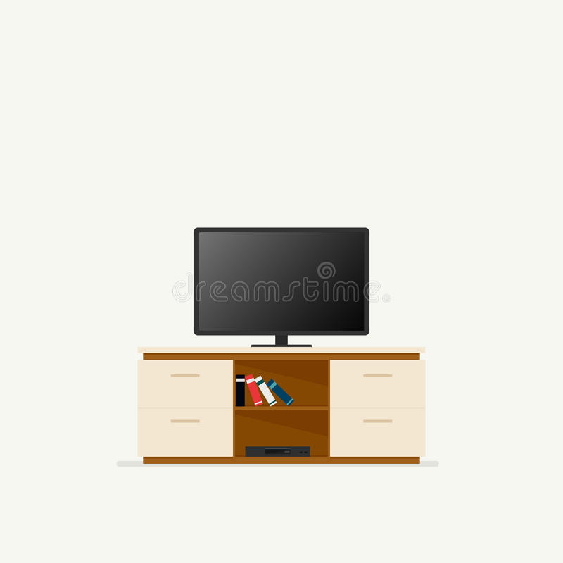 Tv cabinet icon. Tv cabinet. Vector illustration isolated on white background stock illustration