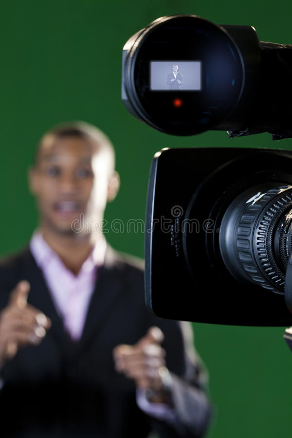 Download TV Camera Lens And Viewfinder Stock Photo - Image: 29295248