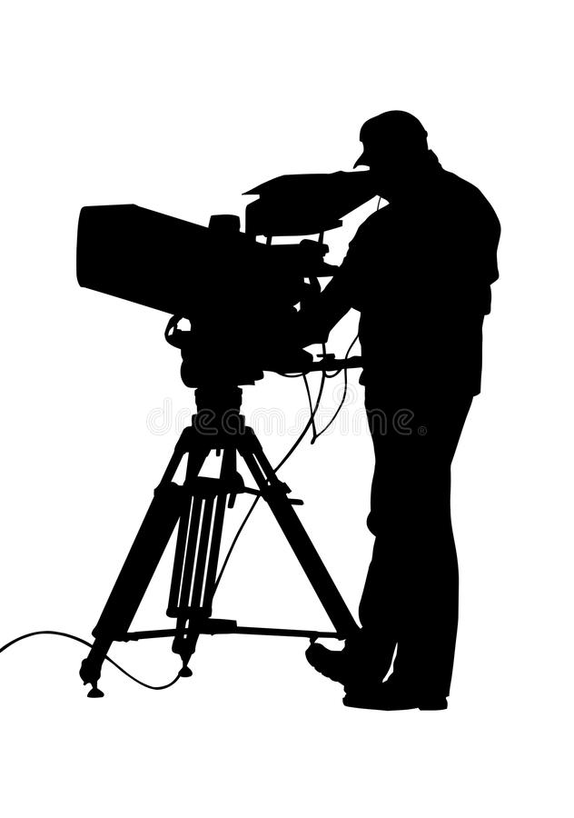 Download TV Camera And Operator Silhouette Stock Vector - Image: 26184526