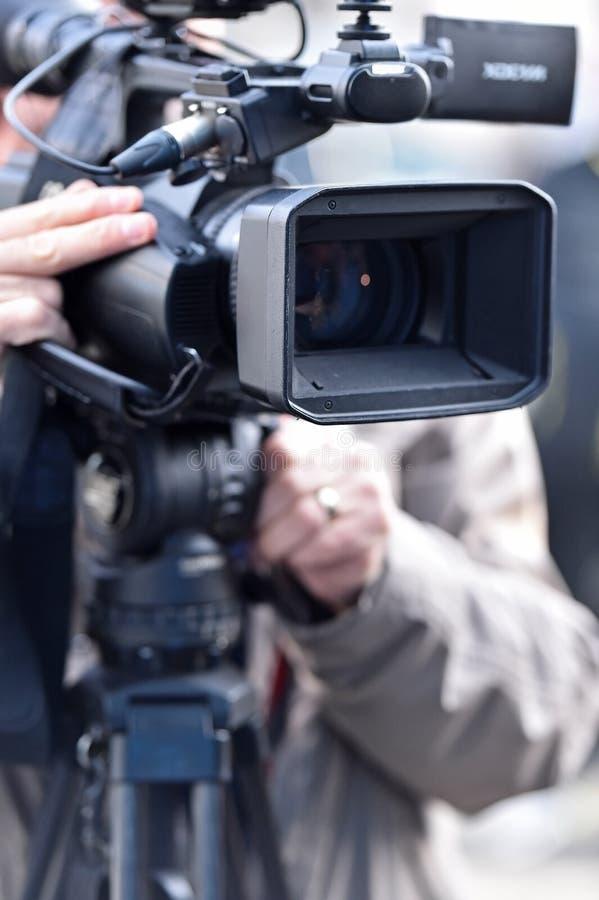 TV-camera's die media gebeurtenis uitzenden royalty-vrije stock afbeeldingen