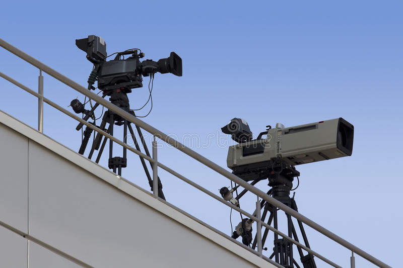 Download TV Cameras stock photo. Image of programme, grip, cam - 26418172