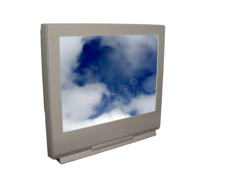 TV with Clouds