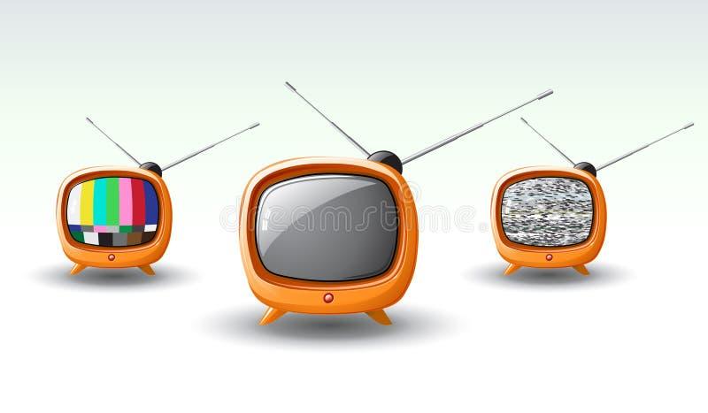 TV cobarde ilustración del vector
