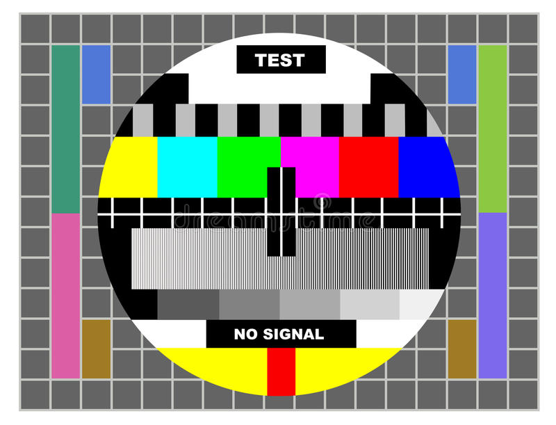 Tv color test pattern royalty free illustration