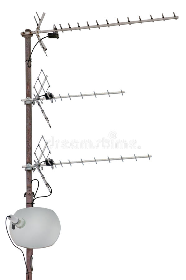 Free TV Communication Aerials Residential Isolated Stock Photos - 18769983