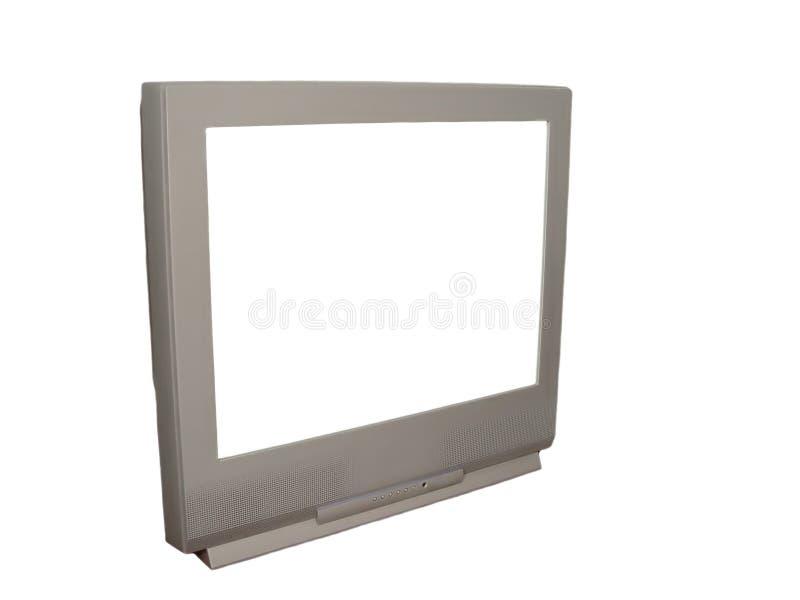 TV con la pantalla blanca imagen de archivo libre de regalías