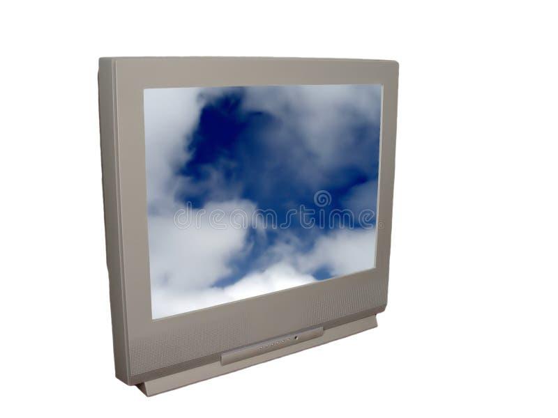 TV Con Las Nubes Imagenes de archivo