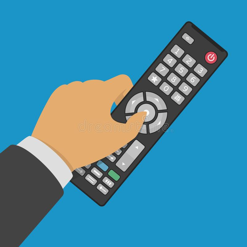 Free Tv Control In Hand. Royalty Free Stock Photography - 107082917