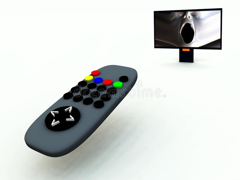 Download TV Control And TV 8 stock image. Image of media, distorted - 2083387
