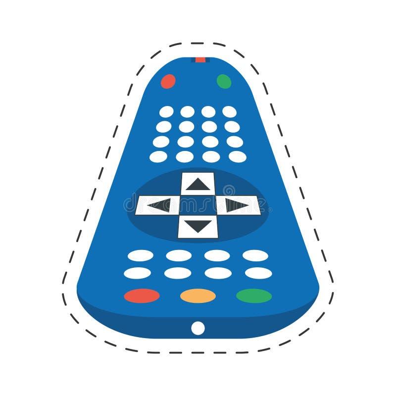 TV-controle ver kanaal stock illustratie