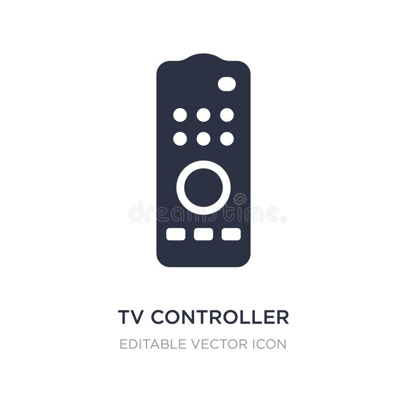 tv controller icon on white background. Simple element illustration from Computer concept royalty free illustration