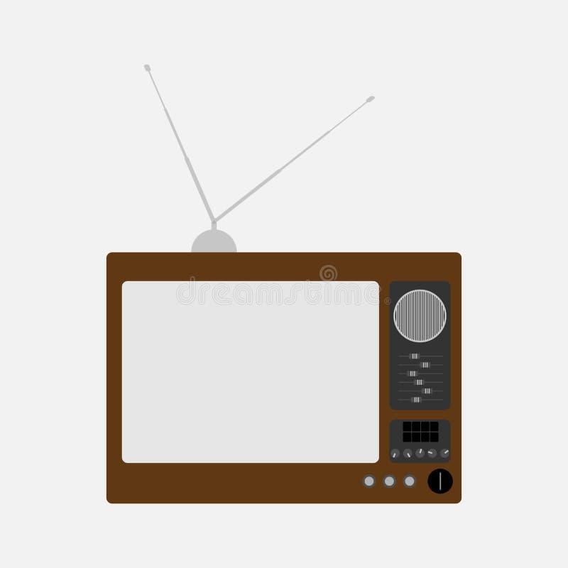 Παλαιά τηλεόραση Αναδρομική TV r απεικόνιση αποθεμάτων