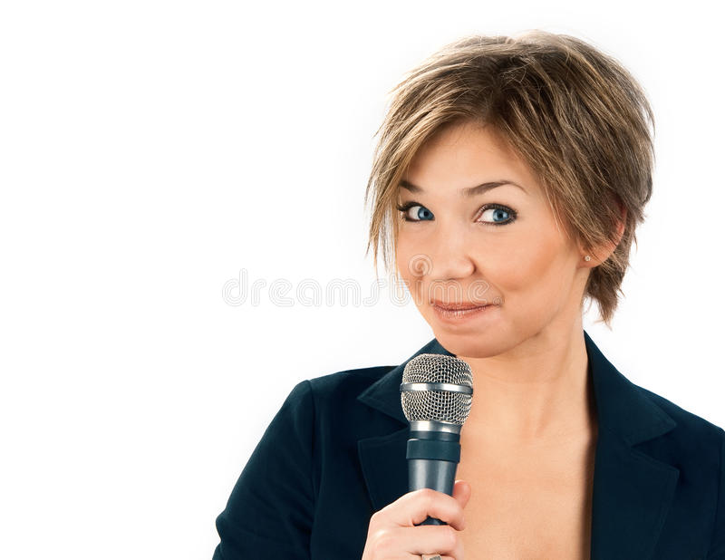 Download TV Correspondent. stock photo. Image of space, looks - 22989886