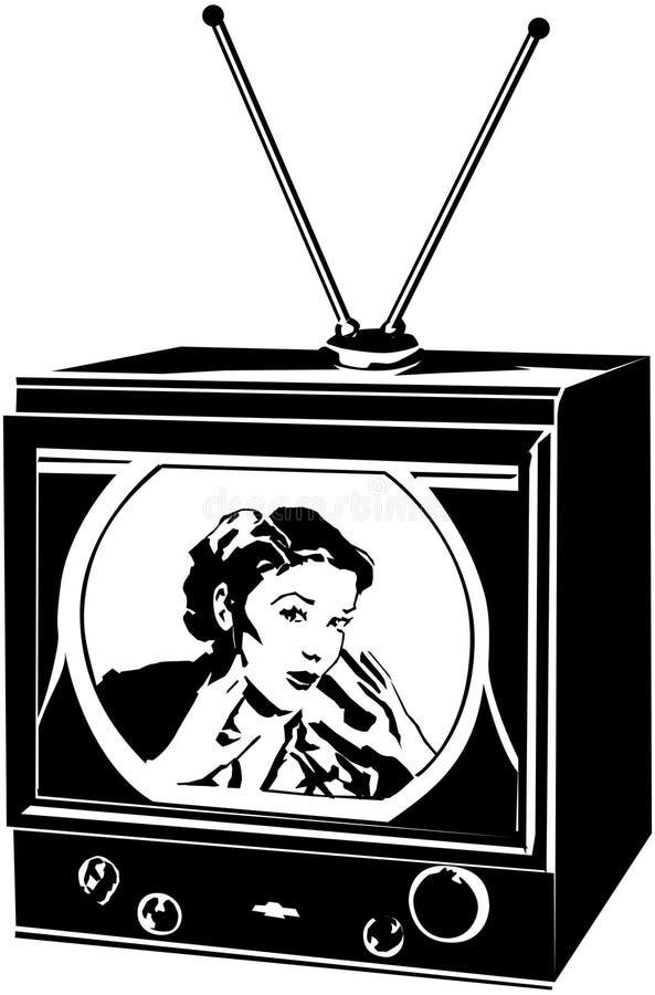 TV-Dame vector illustratie