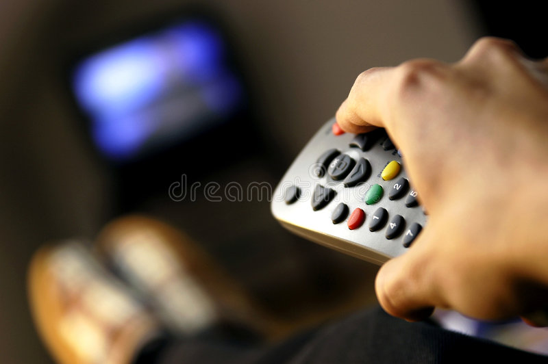 TV de observación fotos de archivo