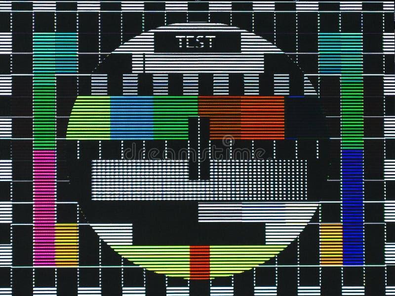 TV-de test sreen stock afbeeldingen
