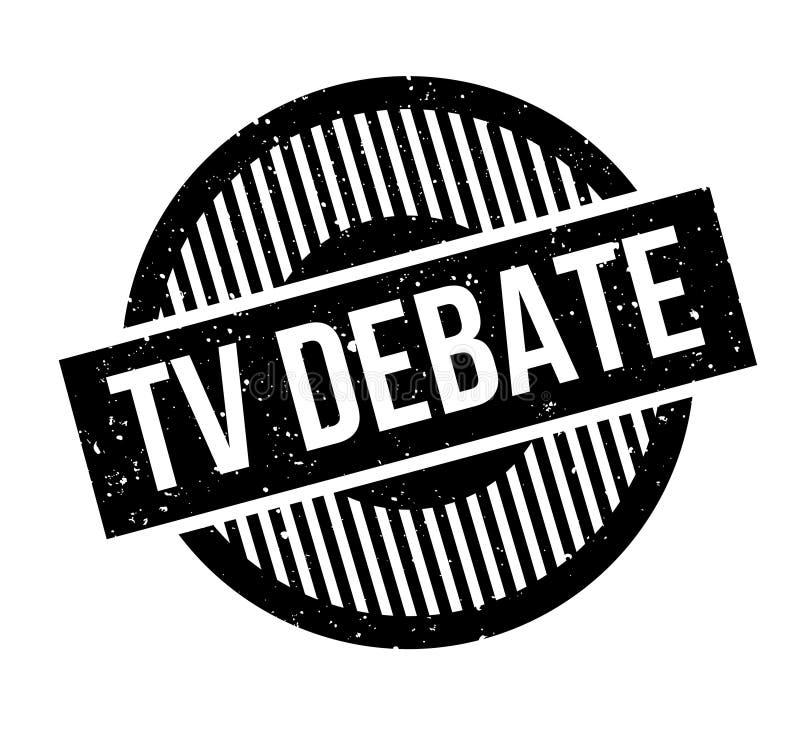 Tv debaty pieczątka royalty ilustracja