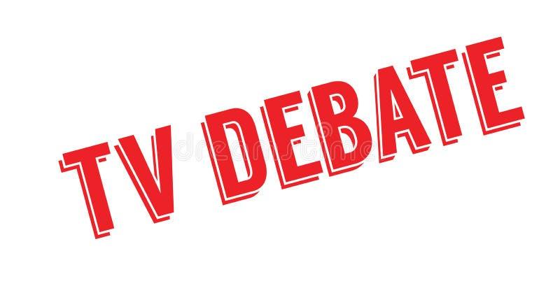 Tv debaty pieczątka ilustracja wektor