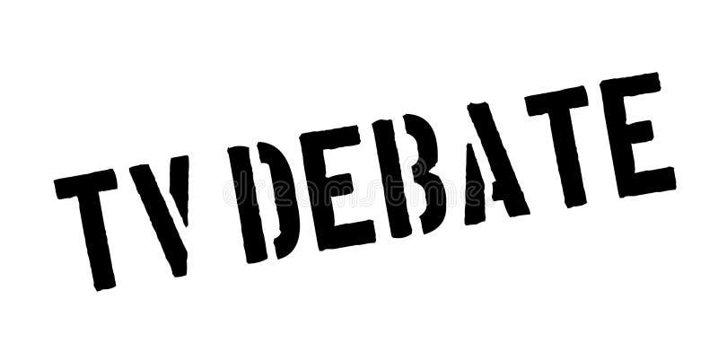 Tv debaty pieczątka ilustracji