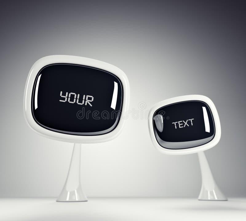 TV del futuro. illustrazione vettoriale