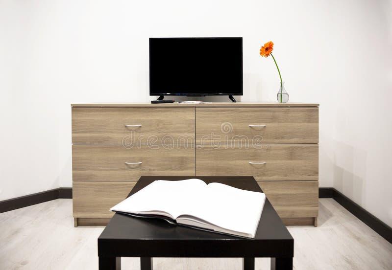 TV e cassettone fotografie stock