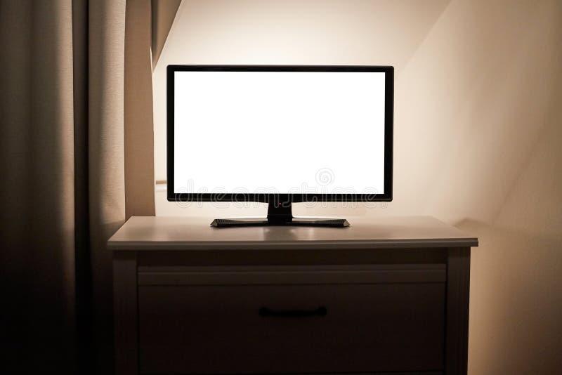 TV in een linving ruimte stock afbeeldingen