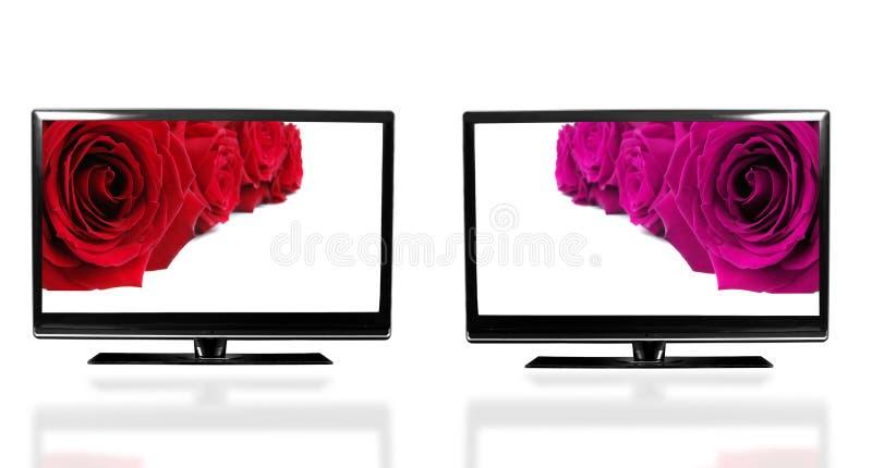 Tv ekran obraz stock