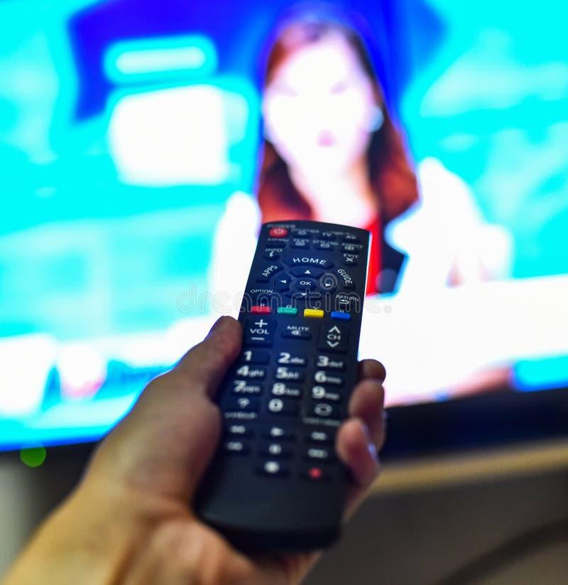 TV elegante teledirigida imagenes de archivo