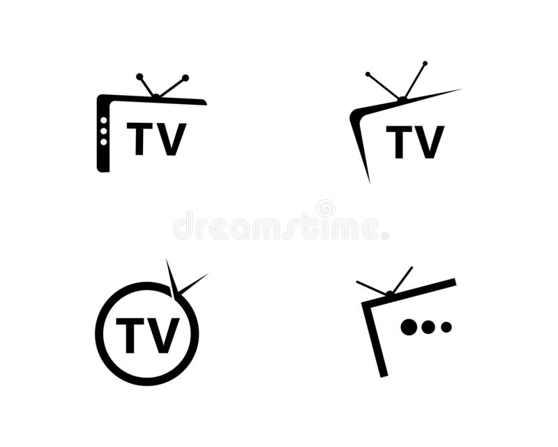 TV-embleemontwerp vector illustratie