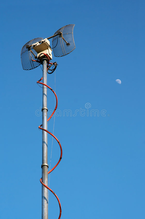 Download TV emitter antenna stock image. Image of connection, tall - 5525709