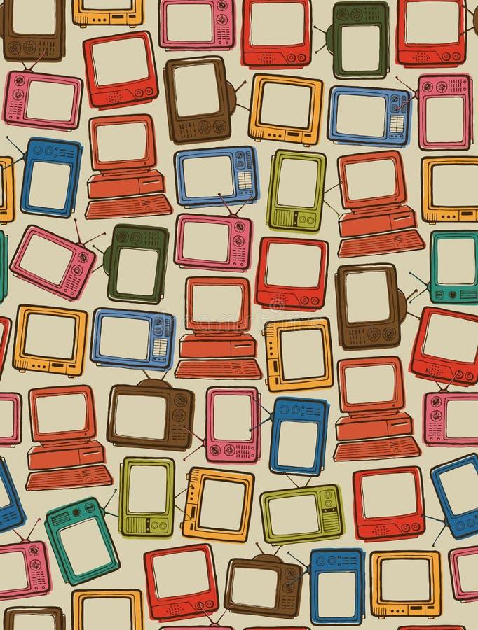 TV en Computer vector illustratie