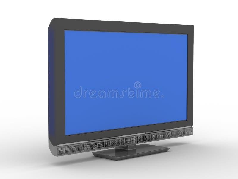TV en el fondo blanco libre illustration