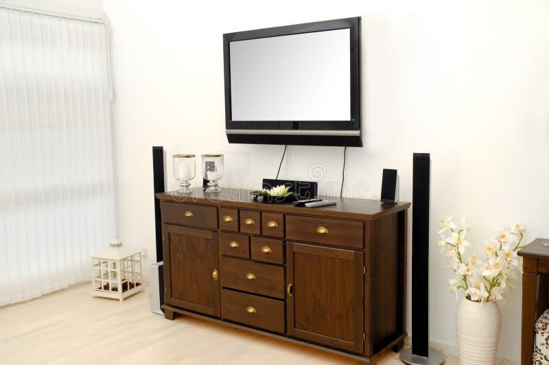 TV en meubilair royalty-vrije stock afbeelding