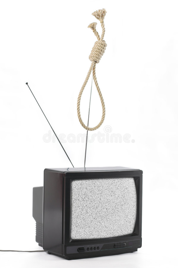 TV et concept d'opinion publique photographie stock