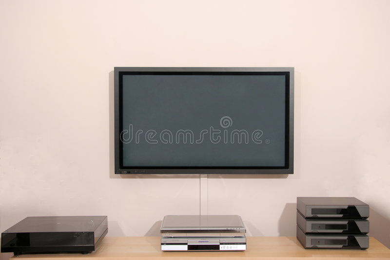 tv för hifiplasmaskärm fotografering för bildbyråer