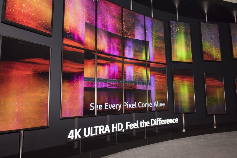 TV för LG 4K Oled arkivfoto