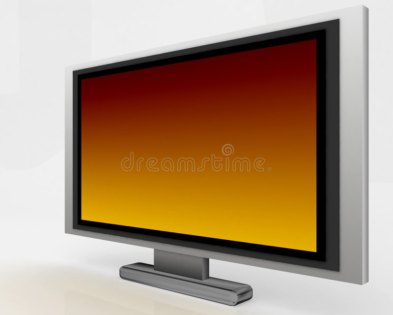 tv för plasma 005 royaltyfri illustrationer