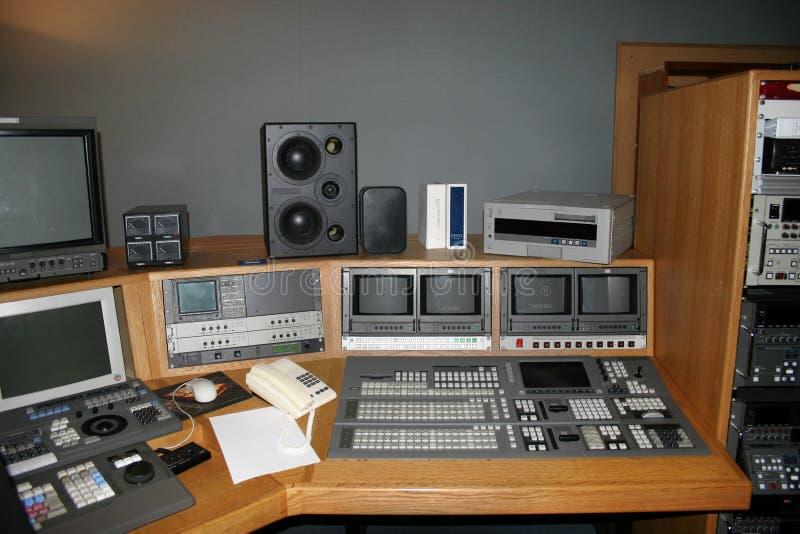 tv för produktionstudiofölje arkivbilder