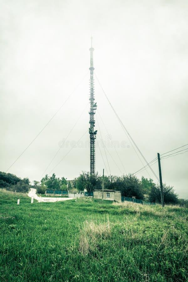 tv för radiotorn royaltyfri foto