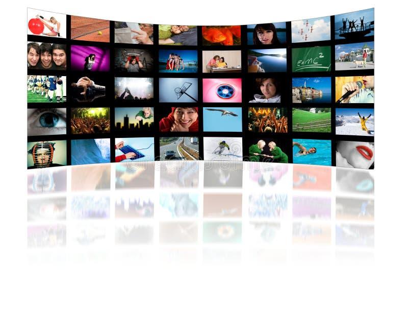 tv för teknologi för begreppshdproduktion vektor illustrationer