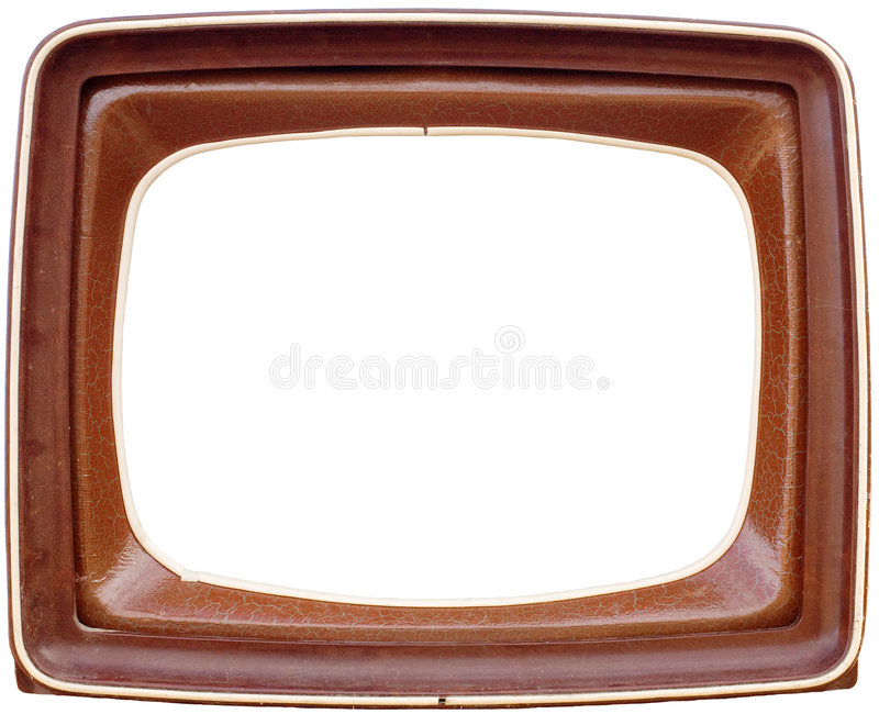 TV frame. Framework made of the old TV royalty free stock photo