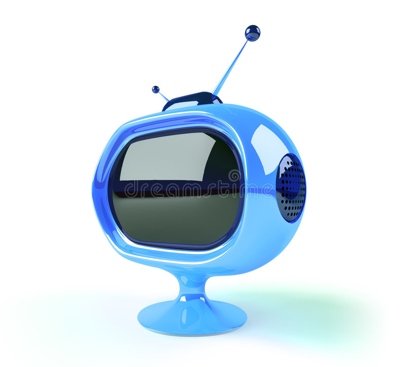 TV futurista retra libre illustration